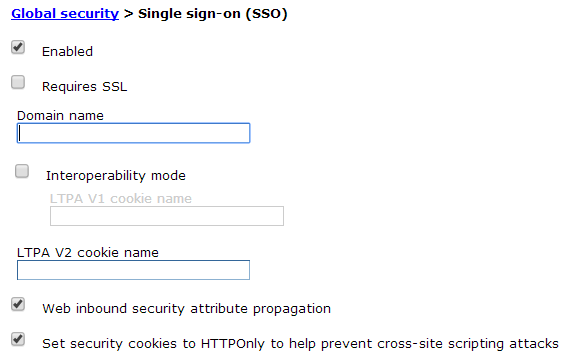 Single sign-on settings