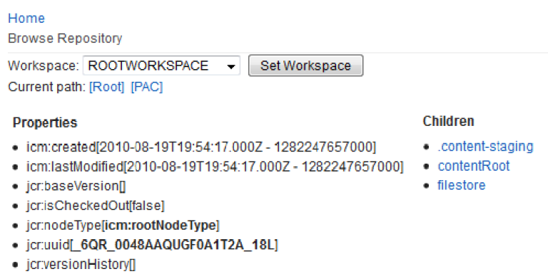 IBM Support Tools portlet for IBM Web Content Manager